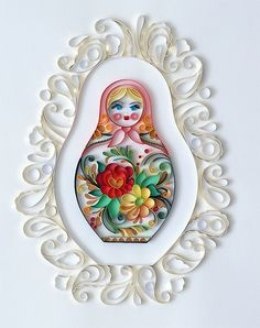 Quilled matryoshka by all things paper, via Flickr