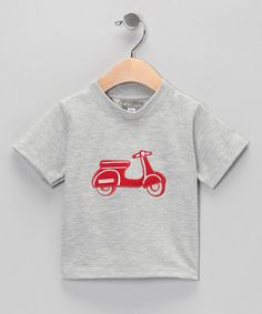 Take a look at this Gray & Red Vespa Tee - Infant by Petit Confection on #zulily today!