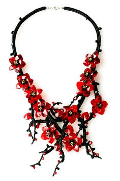 #Necklace | Daniela Blank. 'Chinesische Kirschbl�te'  #Fashion #New #Nice #Necklace #2dayslook www.2dayslook.com
