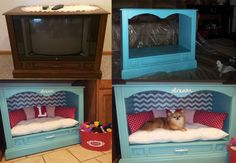Hometalk converted an old TV chassis into a personal spot for man's best friend! You can too,we can help! http://bit.ly/1ffwdOv  &  http://bit.ly/1kdkgId