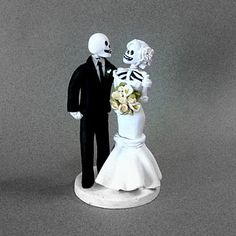 Day of the Dead  Wedding Cake Topper. $130.00, via Etsy.