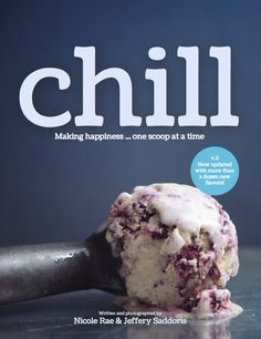 Chill: Outstanding downloadable cookbook with 30 decadent ice cream recipes. (Peanut Butter Nutella Chip? Hello!)
