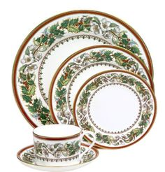 Love this christmas china by Spode.