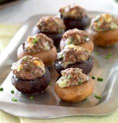 Recipe: Beef and Blue Cheese Stuffed Mushrooms (using ground beef) - Recipelink.com
