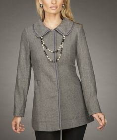 Take a look at this Gray Jacket by Firmiana on #zulily today!
