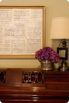 I like the sheet music as decor!