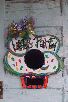Birthday Door Hanger Party Door hanger Summer by BluePickleDesigns, $45.00