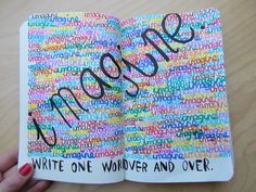 Write one word over and over