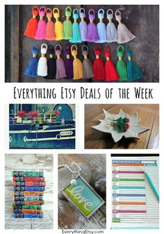 Everything Etsy Deals of the Week on EverythingEtsy.com...time to save money on those holiday gifts! #etsy