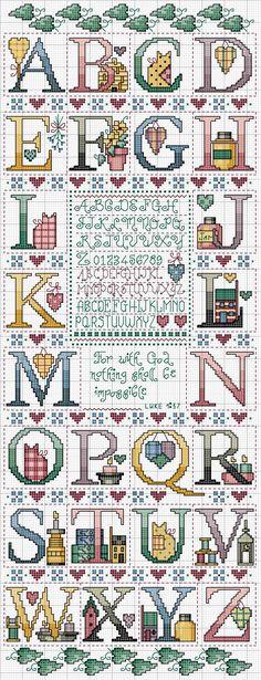 Schema punto croce Alfabeto Casalingo