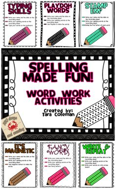 Spelling Made Fun includes 16 fun & engaging activities for students to practice their spelling words.  $