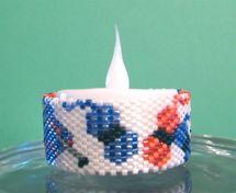 Knitting Tea Light Cover