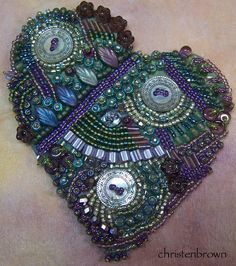 Beaded embroidery Heart
