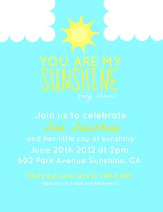 You Are My Sunshine  Baby Shower by NotTooShabbyHandmade on Etsy, $25.00