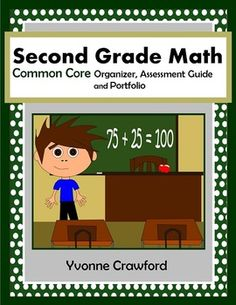 The Common Core Organizer, Assessment Guide and Portfolio for Second Grade Mathematics is full of tools that you can use to teach, organize and assess second grade Common Core for mathematics skills to your class throughout the school year.  $