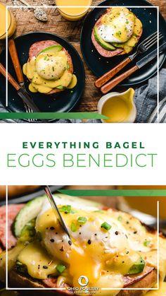 对于一个简单的, 美味的早餐或早午餐, 试试所有的百吉饼、本尼迪克特鸡蛋——30分钟或更少!