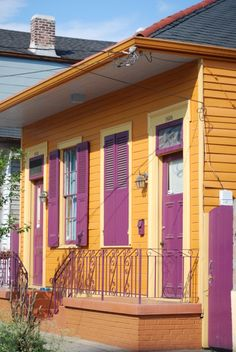 Double shotgun house in Marigny, New Orleans