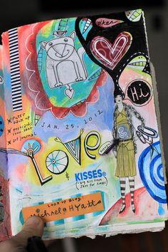 Michelle allen artist art journal