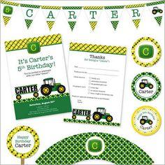john deere party, birthday parti, tractors, parties, tractor parti
