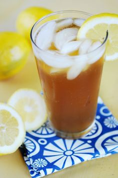 Drunken Arnold Palmer - Half Jeremiah Weed Sweet Tea Vodka, Half Lemonade #cocktails