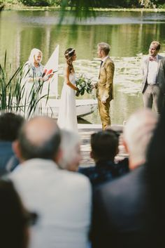 Lake wedding! Oh. My. Goodness. We could get married at my family Lake House