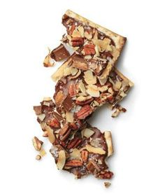 Chocolate, Toffee, and Coconut Matzo recipe