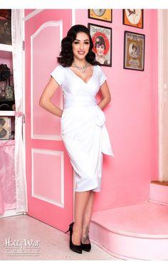 Ava Dress in Bridal White