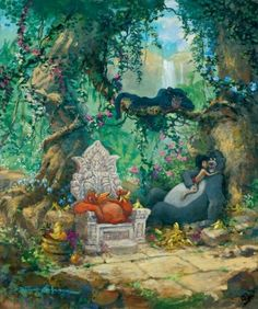"""I Wanna Be Like You"" by James Coleman - Limited Edition of 195 on Canvas, 24x20.  #Disney #JungleBook #DisneyFineArt #JamesColeman"