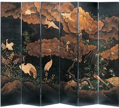 Japanese style folding screen