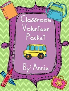 idea, volunt packet, school, classroom volunt, volunteers, parent, year, teacher, classroom organ