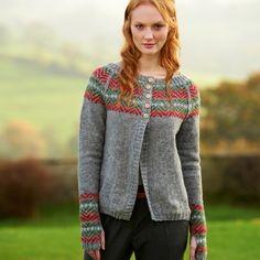 Conifer fair isle cardigan knitting pattern