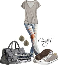Jeans and Tee by cindycook10 on Polyvore dress-me-pretty