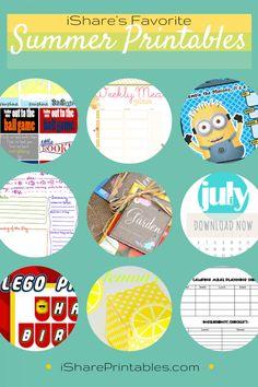 iShare's Favorite Summer Printables | How Does She #summerprintables
