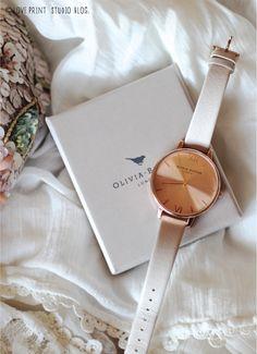 Beautiful! Olivia Burton Big Dial Mink + Rose Gold.