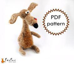 Amigurumi Crochet Pattern Doggie Zosya. Crochet by FerFoxDesign, €4.90