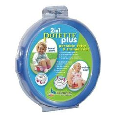Seriously the cheapest travel potty out there and a total lifesaver during toilet training.  Fits in your purse or diaper bag.