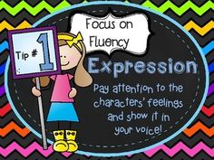 """FREE FLUENCY POSTERS FREEBIE (IMPROVING READING FLUENCY).....Follow for Free """"too-meat-not-to-keep"""" teaching tools & other fun stuff :)"""
