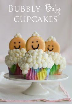Cupcakes bébés dans les bulles/ Bubbly Baby Cupcakes bubble cupcakes, baby cupcake party, babi cupcak, bubble food, bubbl cupcak, baby cupcakes, babi shower, baby showers, bubbl babi