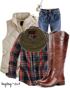 one of these days I am going to get brave enough to wear a plaid shirt! This who outfit Icould possibly pull off