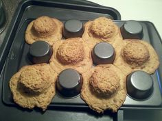 bake cookie dough on bottom of muffin pan to make bowls for ice cream.