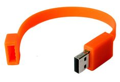 Flash drive wristband. Now this is for your serious tech enthusiasts... never leave home without it :)