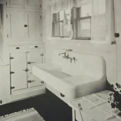 I would die for a great vintage sink like this... Keeping my eye out for the perfect one..truly oddly obsessed with sinks farmhouse decor, kitchen cabinetry, farm kitchens, kitchen design, kitchen sinks, farmhouse kitchens, farmhouse sinks, farm sinks, vintage kitchen