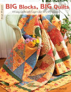 Big Blocks Big Quilts #quilt #pattern #book. This makes bed-size quilts so easy! $16.14