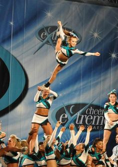 cea Cheer Extreme competitive cheerleading competition stunt in the air #KyFun m.11.64  moved from @Kythoni Cheerleading: In the Air board http://www.pinterest.com/kythoni/cheerleading-in-the-air/
