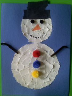 paper plate snowman,winter crafts for preschoolers,mitten crafts,how to make a snowflake -                 Crafts For Preschoolers squish preschool, torn paper, januari, paper snowman, winter crafts for preschoolers, papers, preschool idea, kid craft, preschools