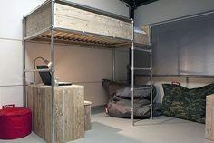 Stoere puberkamer on pinterest loft beds bureaus and lit mezzanine - Mezzanine jongen ...