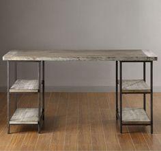 decor, office desks, idea, diy desk, wood
