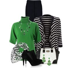 Green and Black, created by cathy0402 on Polyvore