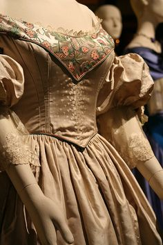 """Detail View, Costume from """"The Young Victoria"""" Designed by Sandy Powell."""