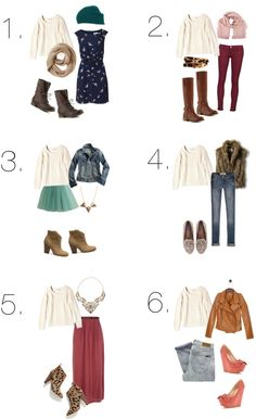 Cable knit sweater outfits … have the white sweater. its perfect definitely going to use some of these ideas